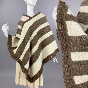 OS Vintage 70s Wool Knit Poncho *$ firm*